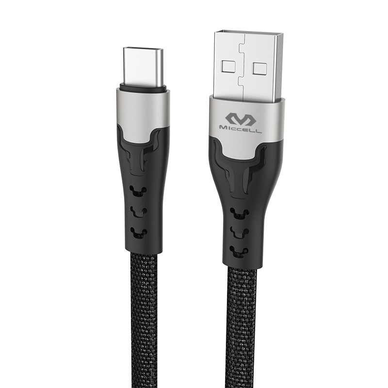 Manufacturer nylon braided 2.4A mobile charging usb c data cable