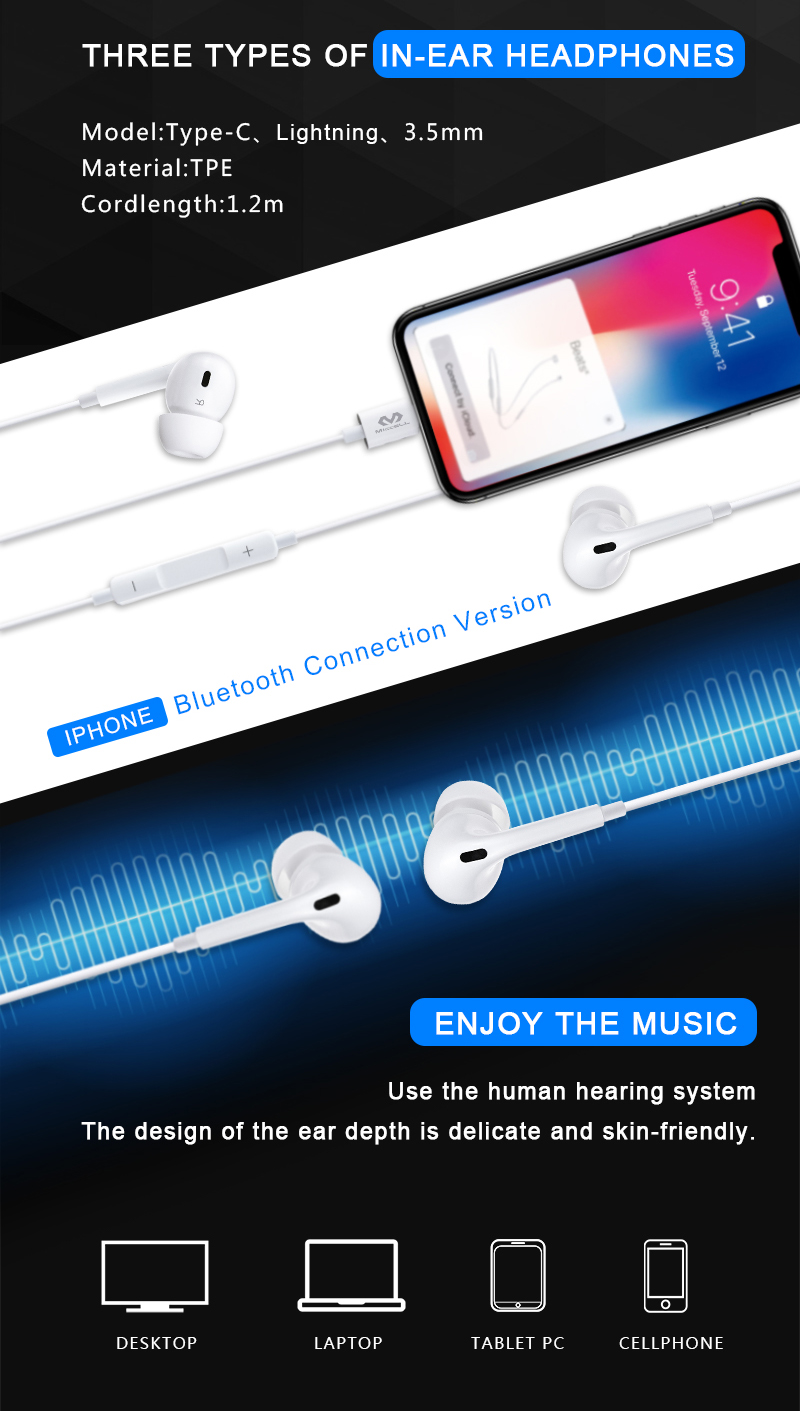 Earphones wired headphone in-ear for iphone type c 3.5mm H18 (2).jpg