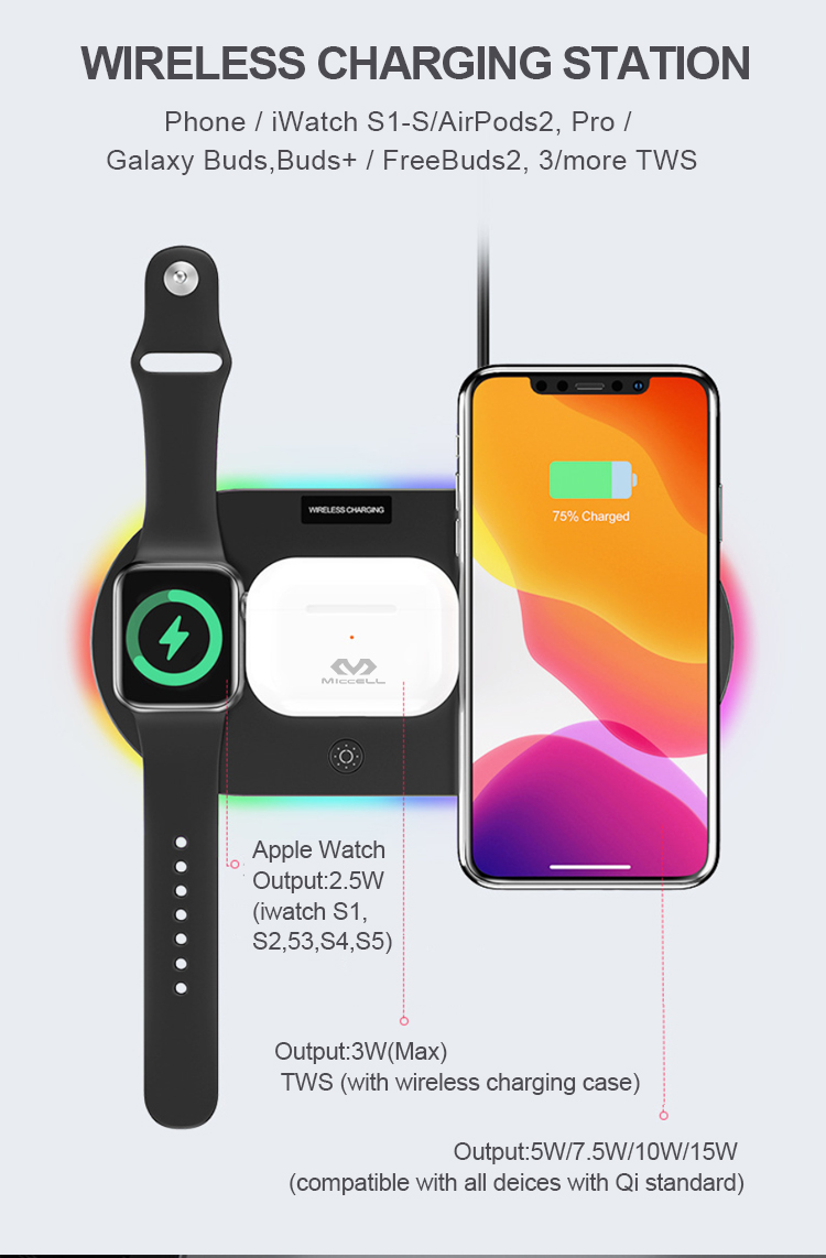 Wholesale 15w wireless charger 3 in 1 pad for iphone Apple watch Airpods suppliers (2).jpg