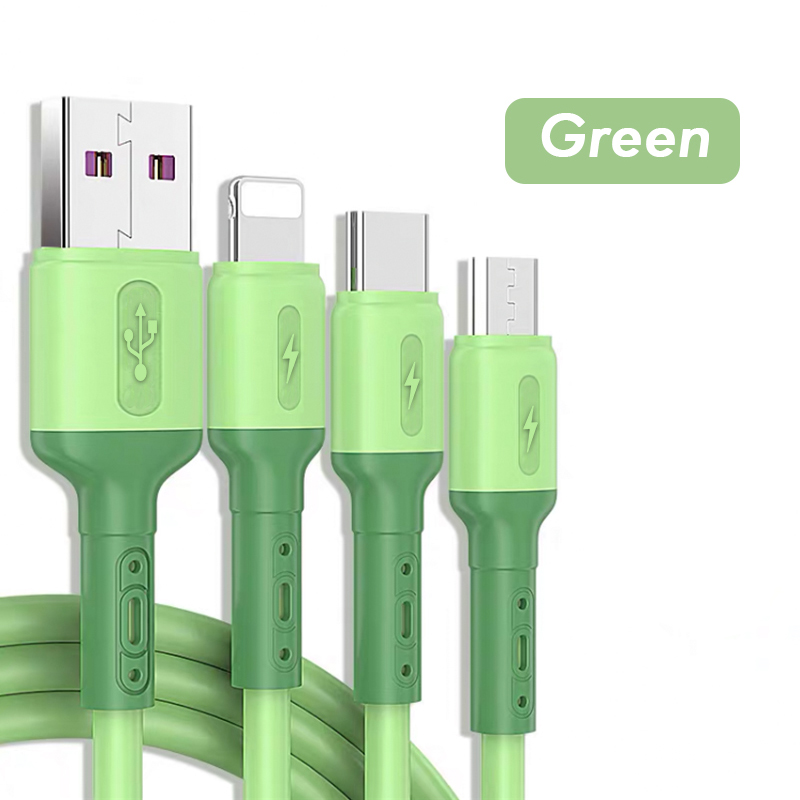 3 in 1 usb 2A charging cable