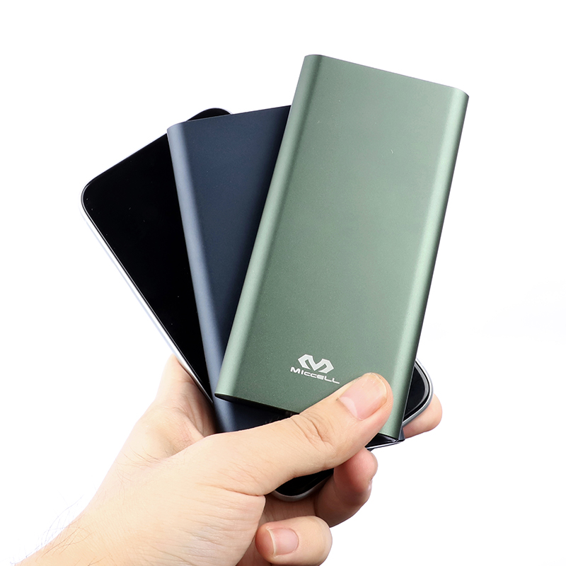 Ultra slim power bank 10000mah portable LED display mobile charger powerbank