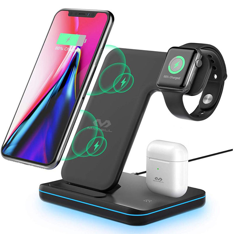 3 in 1 Wireless charger stand 15w for iphone