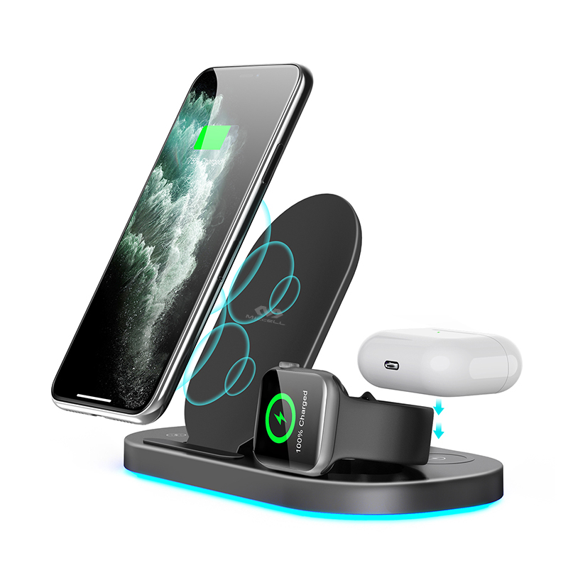 3 in 1 wireless charger station for iphone 12 Apple watch Airpods