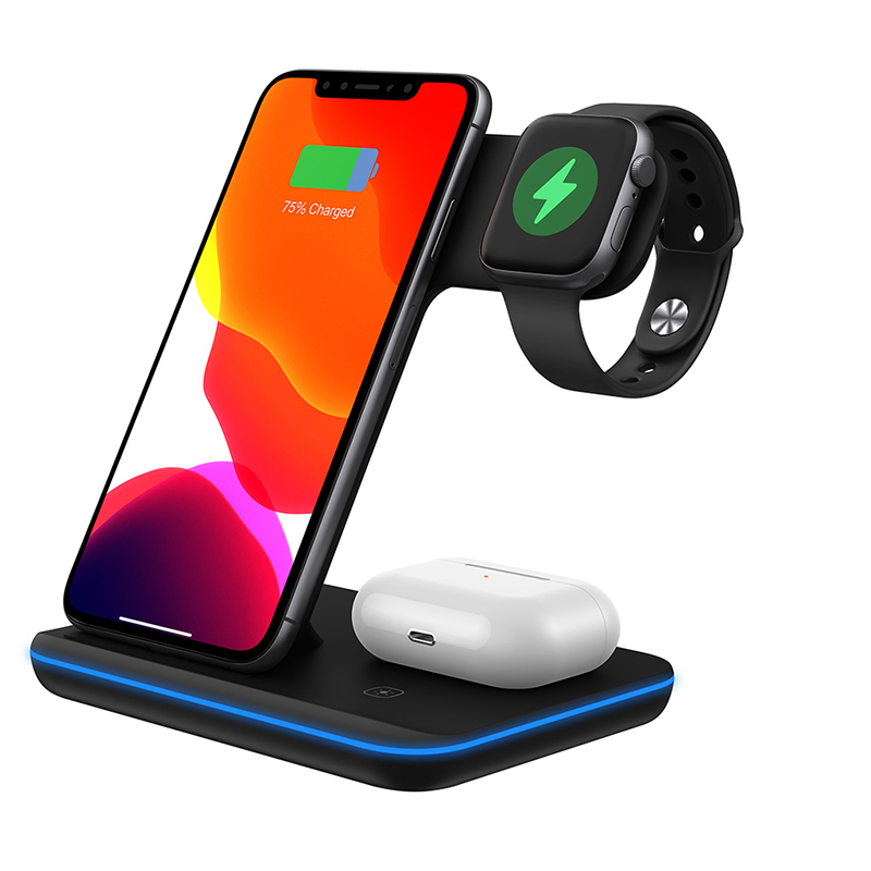 Charger stand wireless 3 in 1 for iphone 12