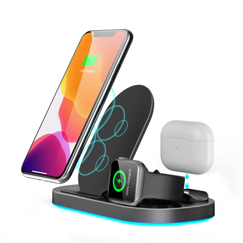 Wireless charger stand 3 in 1 15w fast charging for iphone