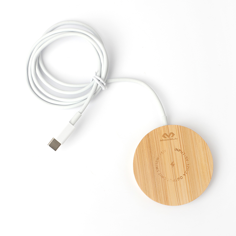 Wooden magsafe wireless charger 15w for iphone 12