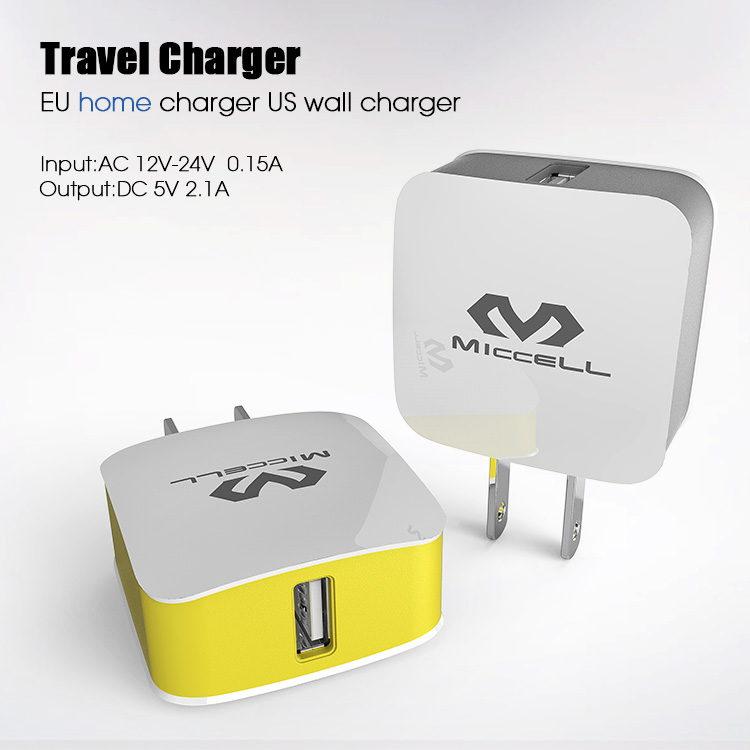 Veaqee Dual USB travel Charger EU home charger US wall mobile phone charger(VQCT-1657)-1