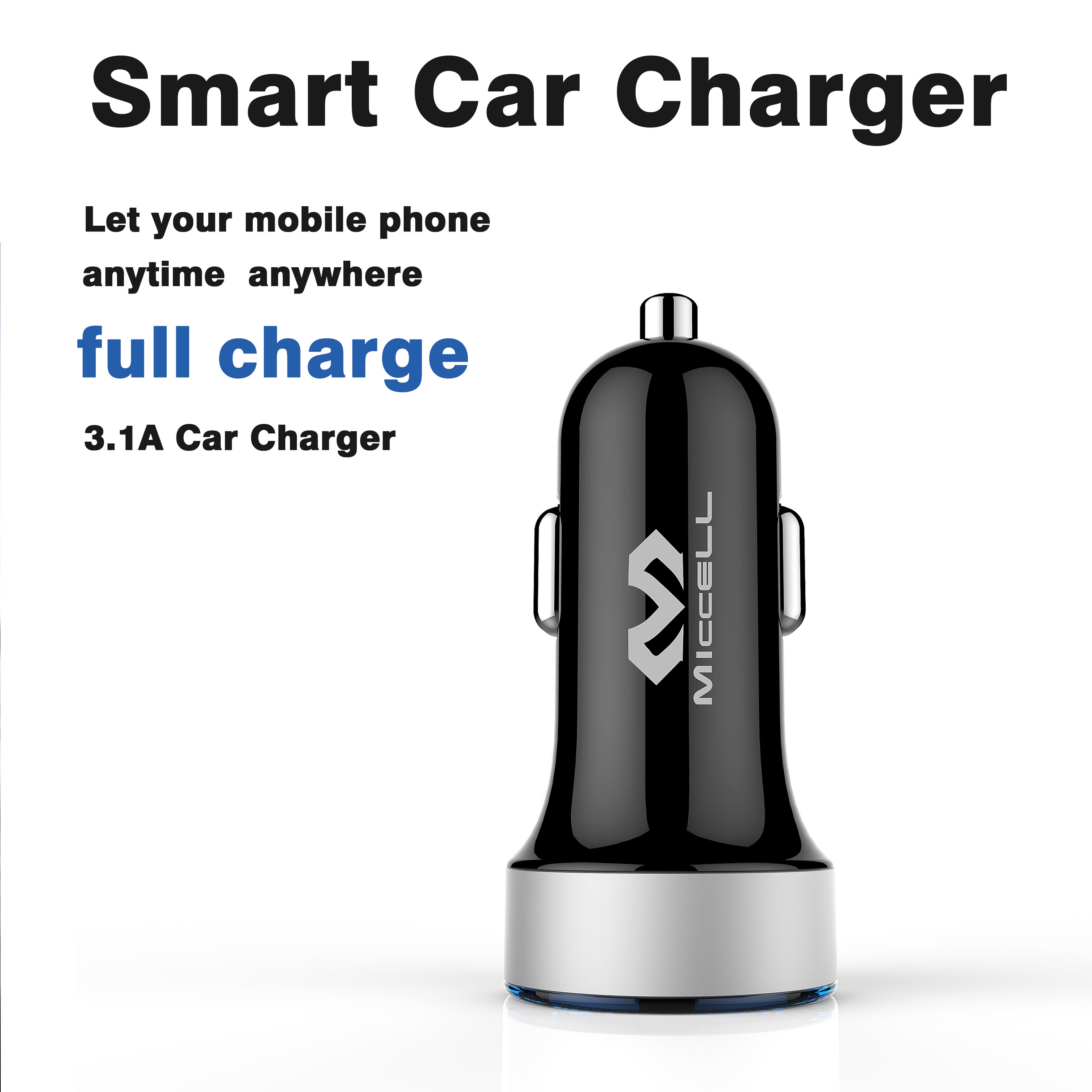 Wholesale Colorful Dual Usb Car Phone Charger(VQCC-1553)