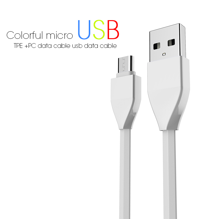 Veaqee datamicro usb cable colorful micro usb TPE +PC data cable usb data cable(VQUC-1659)-1