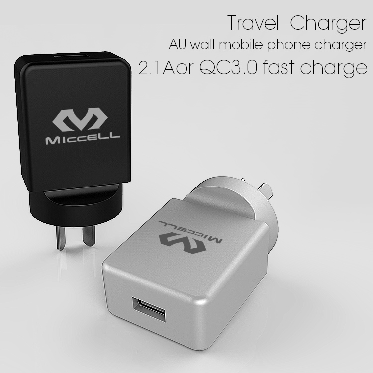Veaqee New Design freestyle USB travel Charger EU home cellp hone charger wall mobile cell phone charger supplier-1