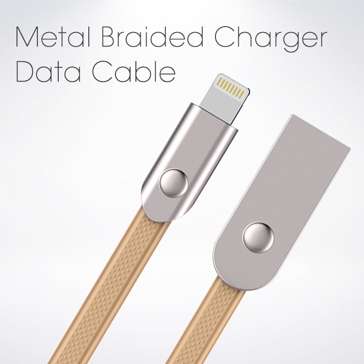 Veaqee Manefacturer Original USB Metal Braided Charger USB Data Cable 2A Faster Phones Data Cables factory for iphone 7 8 x(VQUC-1704)