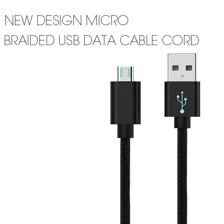 Veaqee manufacturer Miccell brand New design Micro braided usb data cable cord(VQUC-1713)