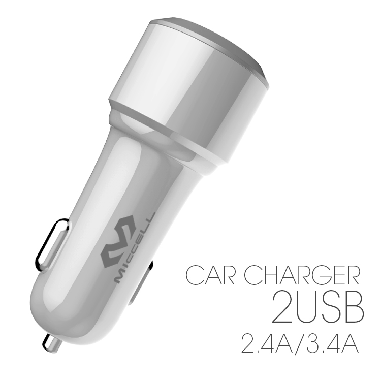 Veaqee Manufacturer Miccell Brand New Design 2.4A/3.4A*2usb /QC3.0*1 usb car charger(VQ-C08)